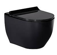 Черный подвесной унитаз volle BLACK AMADEUS с сиденьем Slim slow-closing 13-06-055Black