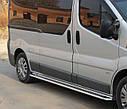 Пороги боковые (подножки-площадка) Renault Trafic 2001-2014 длинная база (Ø51), фото 2