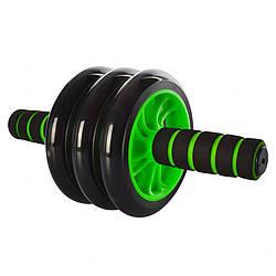 Универсальный домашний тренажер колесо Profi для пресса, зеленый
