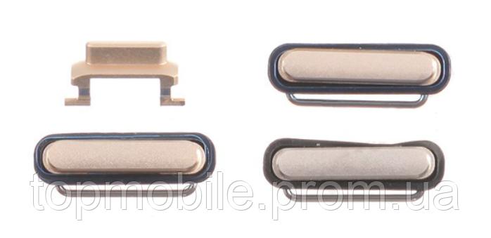 Комплект боковых кнопок корпуса iPhone 6S Plus, розовый, полный комплект