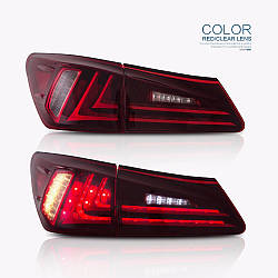 Фонари Lexus IS XE20 (06-12) тюнинг Led оптика красные