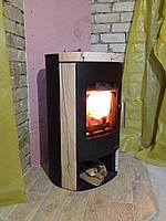 Отопительная печь камин на дровах ( каминофен , кафельная печь ) Haas+Sohn Madeira песчаник.