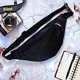 Модная женская серебристая поясная, наплечная сумка бананка на пояс, через плечо экокожа серебро, фото 6