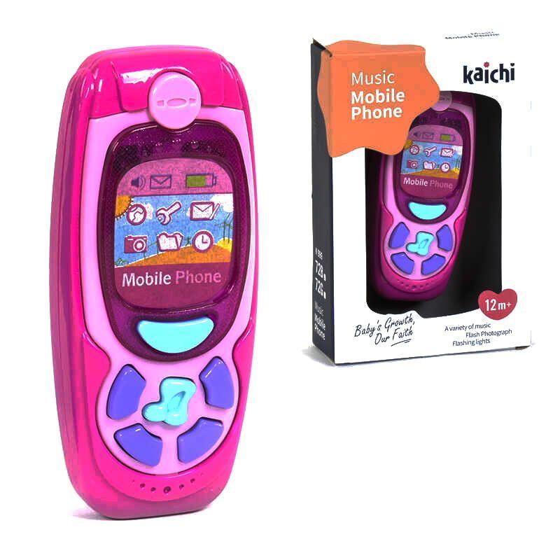Телефон интерактивный Music Phone (розовый) Kaichi