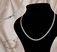 Срібний ланцюг бісмарк 925 проби, довжиною 55 см-60, фото 1
