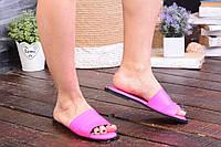 Кожаные шлепанцы женские розовые Enri Rossi 40