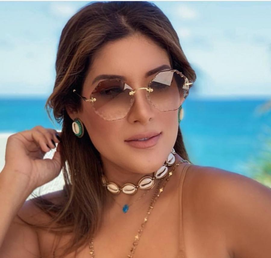 Круглі жіночі сонцезахисні окуляри 31275 с101