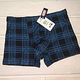 Трусы шорты боксеры Fuko Ub 7873 бамбук 2шт L  синий зеленый, фото 2
