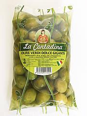 Оливки зеленые с косточкой Olive Verdi Dolci Giganti, 500г.