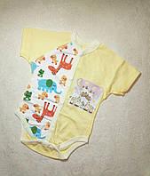Бодик для новорожденного в роддом на выписку наружные швы качество Люкс 62 размер