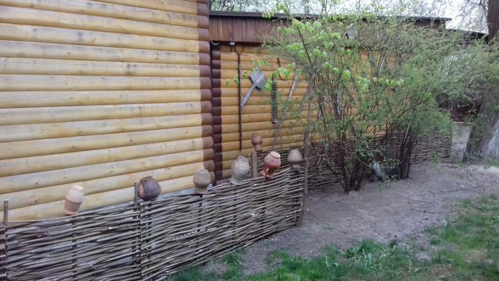 Тын во дворе с Украинским стилем
