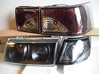 Передние фары+задние фонари на ВАЗ 2110 №5 (черные+тонированные)