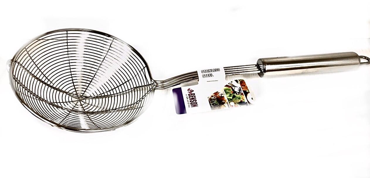 Сетка для картофеля фри 16 см Benson BN-278 | шумовка для фритюра Бенсон | фритюрница Бэнсон