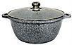 Каструля з гранітним антипригарним покриттям Benson BN-315 (2.2 л)   казан з кришкою Бенсон   каструлі Бэнсон, фото 3