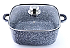 Набір посуду Benson BN-332 (8 предметів) гранітне покриття   каструля з кришкою   каструлі   сковорода Бенсон, фото 2