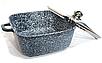 Набір посуду Benson BN-332 (8 предметів) гранітне покриття   каструля з кришкою   каструлі   сковорода Бенсон, фото 4