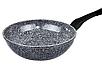 Сковорода лита WOK Benson BN-496 (28 см) з антипригарним гранітним покриттям | сковорідка вок Бенсон, Бэнсон, фото 2
