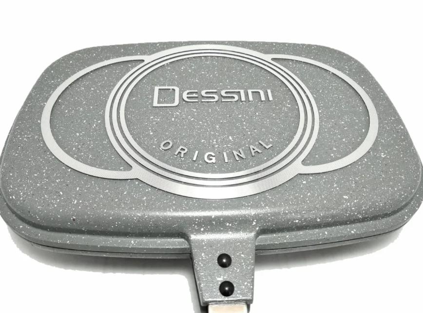 Сковорода - гриль двойная Benson BN-556 (гранитное покрытие) | сковородка Бенсон, сковорода Бэнсон