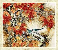 Вышивка бисером Птички на ветке (Животные и птицы)