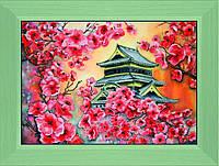 Вышивка бисером Цветение сакуры (Городской пейзаж)