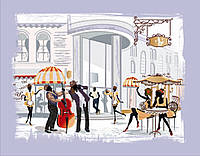 Вышивка бисером Уличное кафе (Городской пейзаж)
