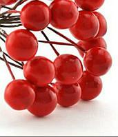 Калина лаковая декоративная двусторонняя красная 1,2 см