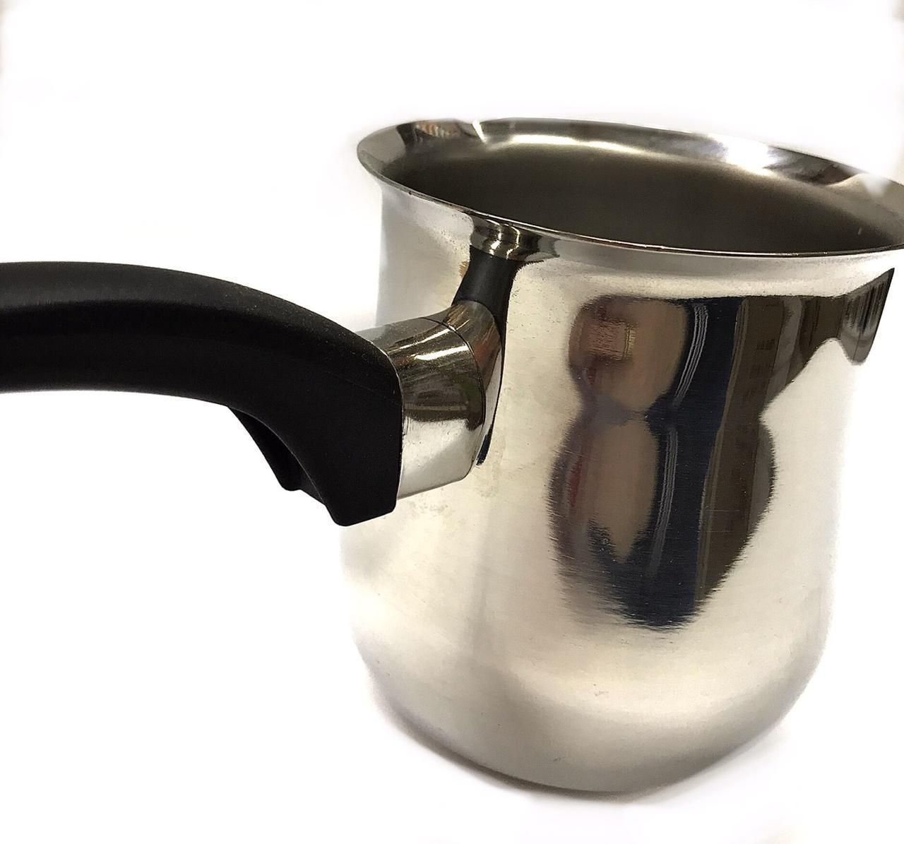 Турка Benson BN-656 из нержавеющей стали (2 шт.) 700 мл   турка для плиты Бенсон, кофеварка Бэнсон