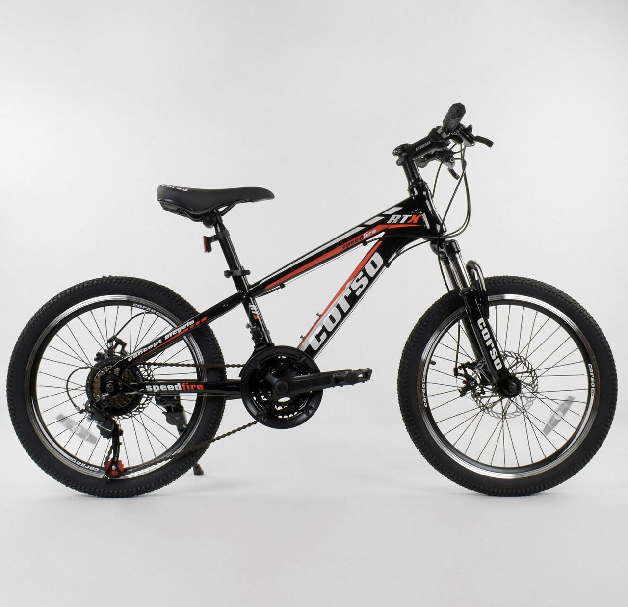Горный велосипед CORSO RTX 20 St черный