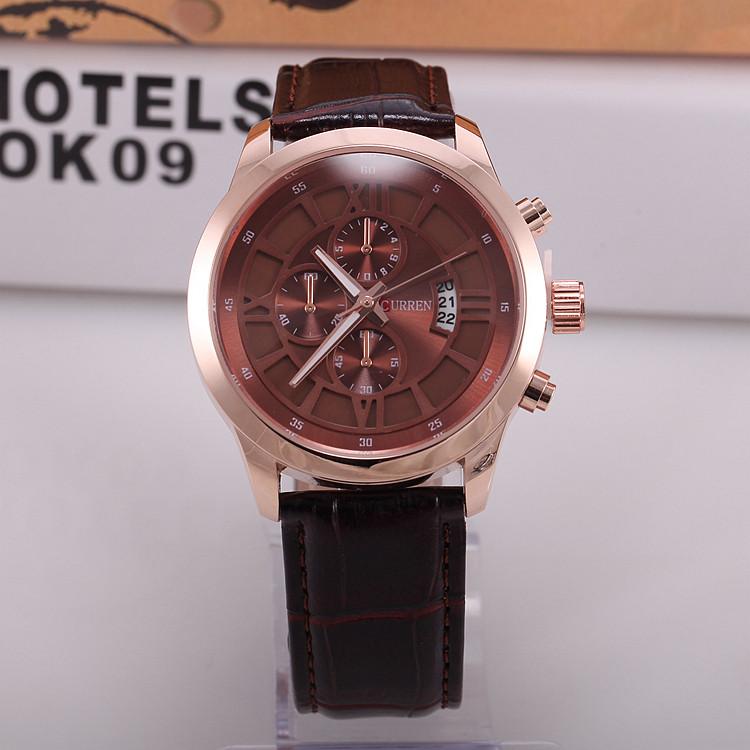 Часы мужские Curren Touareg brown-gold-brown