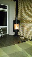 Отопительная печь камин на дровах ( каминофен ) Andorra Exclusive - черная