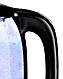Стеклянный электрочайник KB-2028 черный (1.7 л) | электрический чайник | чайник с подсветкой, фото 3
