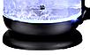Стеклянный электрочайник KB-2028 черный (1.7 л) | электрический чайник | чайник с подсветкой, фото 4