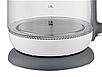Стеклянный электрочайник KB-2028 серый (1.7 л) | электрический чайник | чайник с подсветкой, фото 4