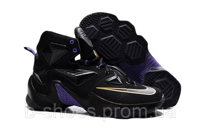Мужские баскетбольные кроссовки Nike Lebron 13 (Black/Purple/Gold)
