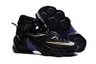 Мужские баскетбольные кроссовки Nike Lebron 13 (Black/Purple/Gold), фото 1