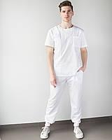 Медицинский мужской костюм Техас белый, фото 1