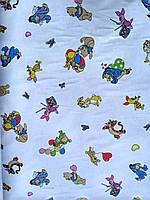 Ткань фланель детская для пеленок ш.180 см Винни Пух