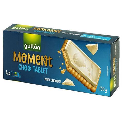 Печиво GULLON Chocotablet Moment, з білим шоколадом 150г, фото 2