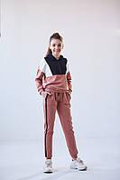 Спортивный костюм на девочек 8-12 лет из трикотажа красивого дизайна