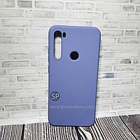 Силиконовый чехол для Xiaomi Redmi Note 8 серый  Aspor