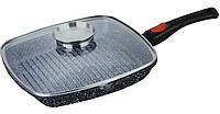 Сковорода со съемной ручкой Benson BN-310 (гранитное покрытие) | сковородка Бенсон, сковорода с крышкой Бэнсон, фото 1