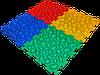 Массажный  коврик  с эффектом морской гальки Пазлы 4 элемента