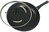 Сковорода з антипригарним мармуровим покриттям з кришкою Benson BN-341 (26 см) | сковорідка Бенсон