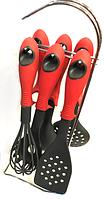 Кухонный набор из 7 предметов Benson BN-460 | лопатка | ложка для спагетти | половник | шумовка, фото 1