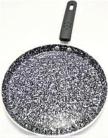 Сковорода блинная Benson BN-553 (24 см) с антипригарным мраморным покрытием   сковородка для блинов Бенсон, фото 1