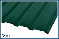 Профнастил стеновой ПС-20, RAL 6005 Цвет Зеленый мох (матовый).