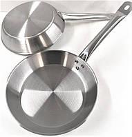 Сковорода Benson BN-635 из нержавеющей стали (24 см) | металлический сотейник Бенсон | хорика Бэнсон, фото 1
