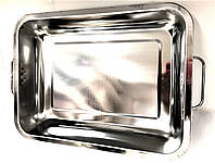 Поднос глубокий с ручками Benson BN-670 из нержавеющей стали (36*27*7*0,7 см) | гастроемкость Бенсон, Бэнсон, фото 1