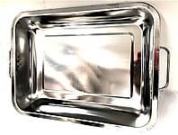 Поднос глубокий с ручками Benson BN-671 из нержавеющей стали (30*40*7*0,7 см) | гастроемкость Бенсон, Бэнсон, фото 1