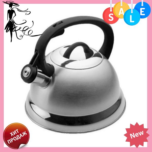 Чайник Edenberg EB-1611 со свистком из нержавеющей стали 2,5 л индукция | Свистящий металлический чайник